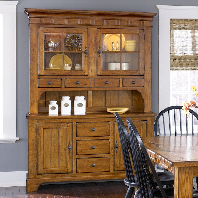 Liberty Furniture Dining Room Hutch and Buffet Set - Frazier ...