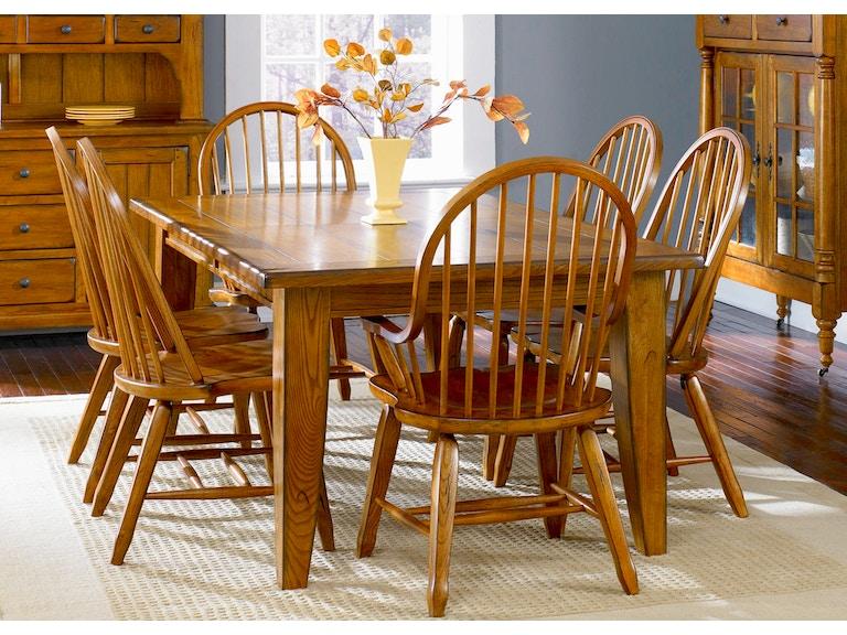 Liberty Furniture Treasures Dining Rectangular Leg Table Oak