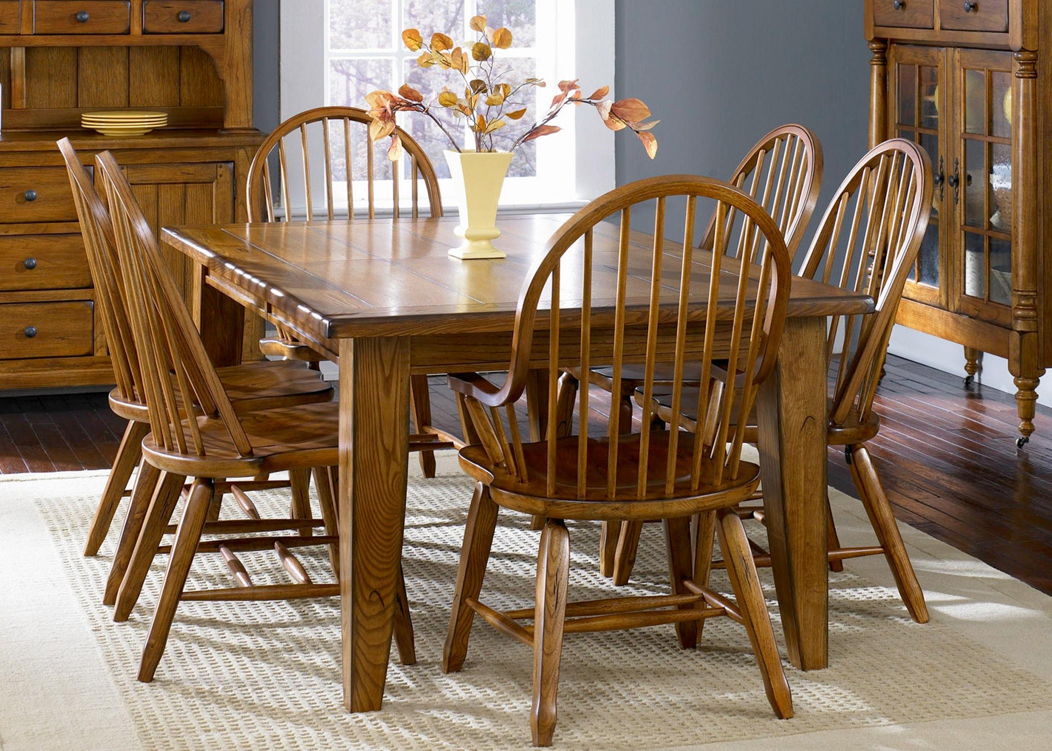 Liberty Furniture Rectangular Leg Table   Oak 17 T4408