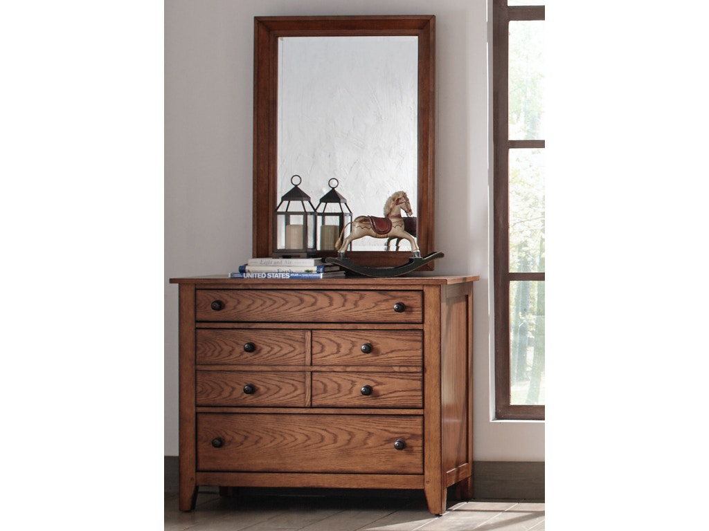 Liberty furniture youth dresser and mirror 175 ybr dm for Quality furniture