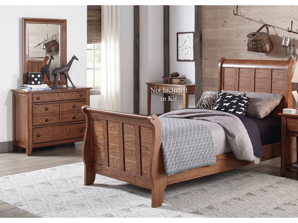 Homestead Collection Su Youth Full Sleigh Bed Dresser And