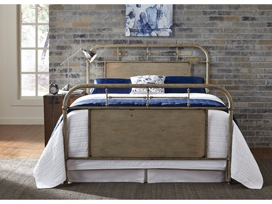 Liberty Furniture Youth Twin Metal Bed Vintage White