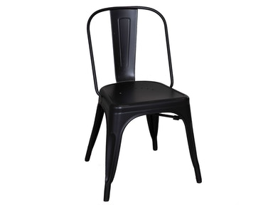 Homestead Collection-SU Bow Back Side Chair - Black 179-C3505-B