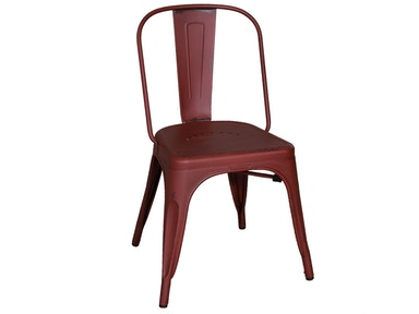 Homestead Collection-SU Bow Back Side Chair - Red 179-C3505-R