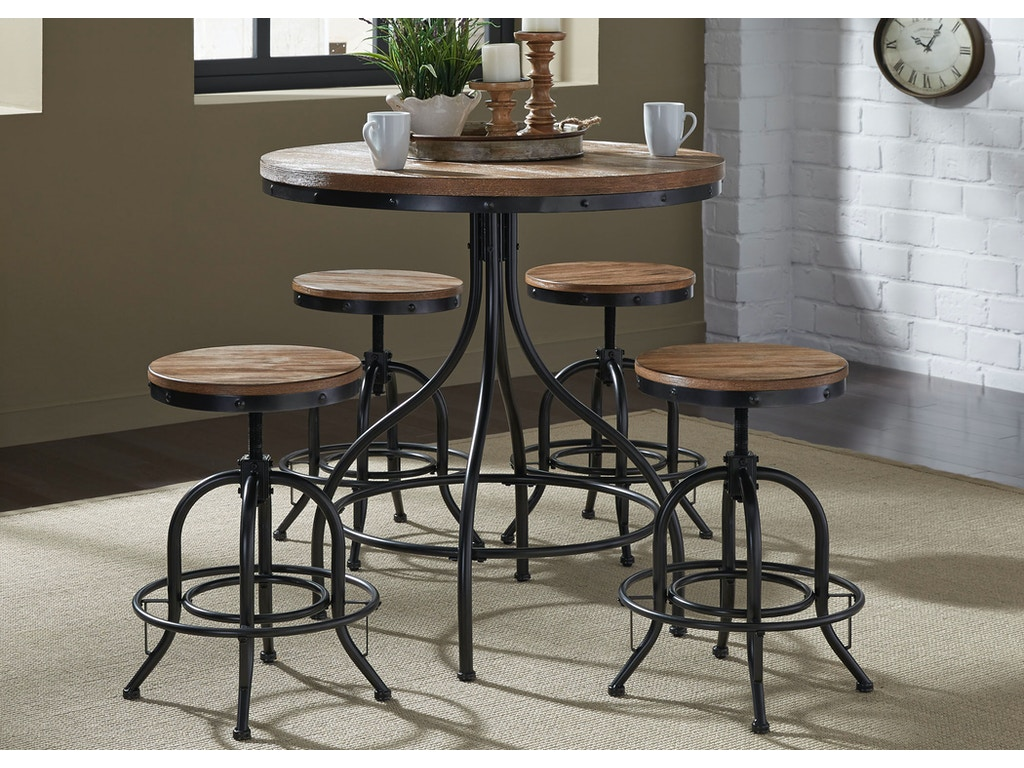 Liberty furniture bar and game room 5 piece pub set 179 cd for Furniture quiz