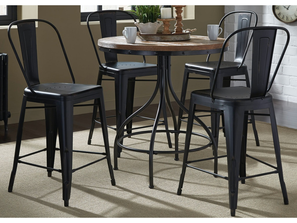 Liberty furniture dining room opt 5 piece gathering table for Table th visible