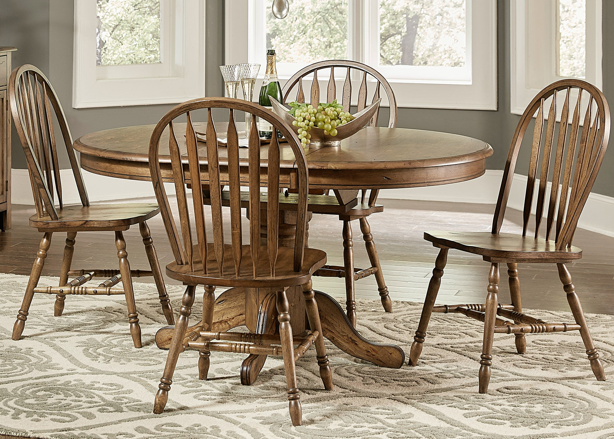 Liberty Furniture 5 Piece Pedestal Table Set 186 CD 5PDS