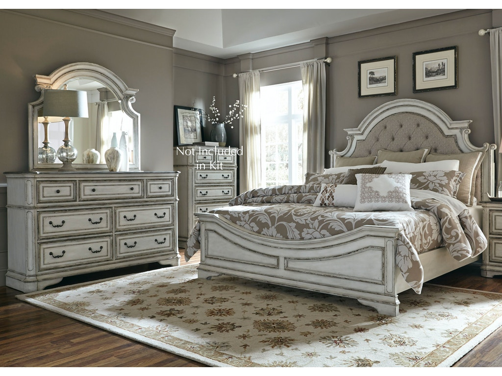Liberty Furniture Bedroom Queen Uph Bed Dresser And Mirror 244 Br Qubdm Toms Price Furniture