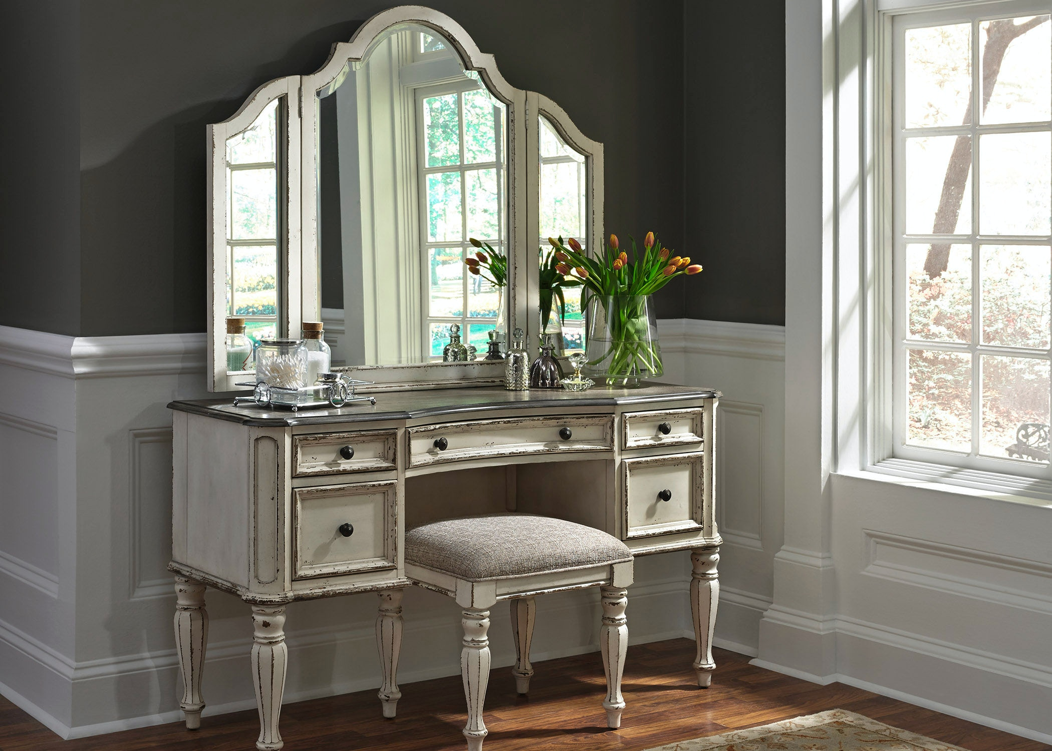 Beau Liberty Furniture Vanity 244 BR VN