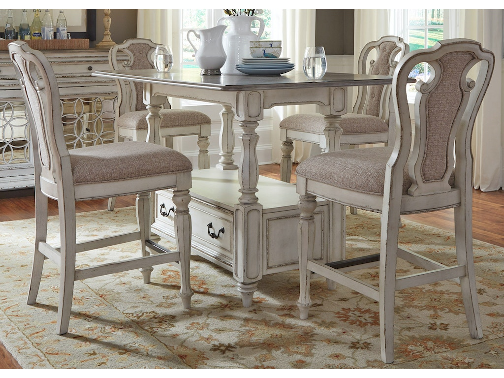 Liberty furniture dining room piece gathering table set