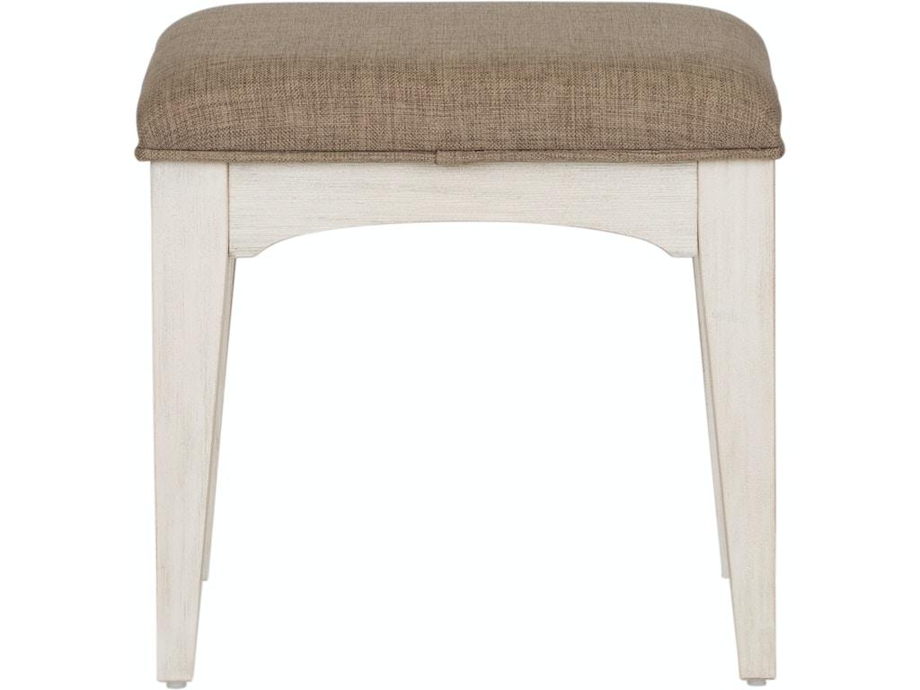 Liberty Furniture Bedroom Vanity Stool 249-BR48 - Rice ...