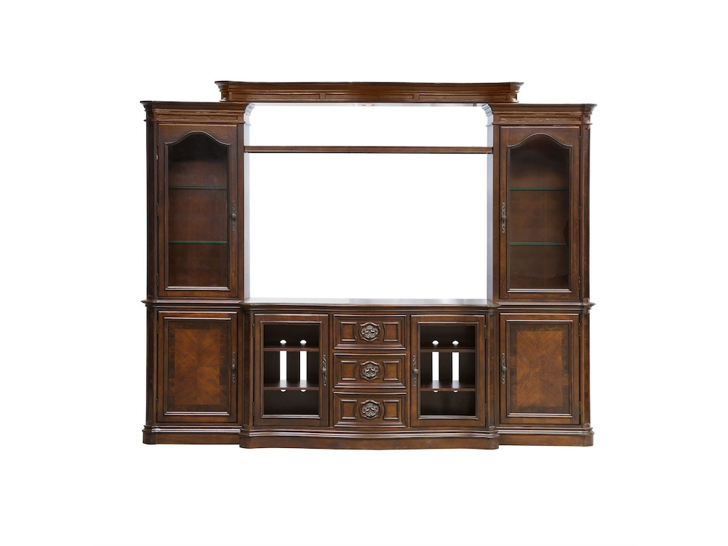Liberty Furniture Home Entertainment Entertainment Center With Piers 259 Entw Ecp Seaside
