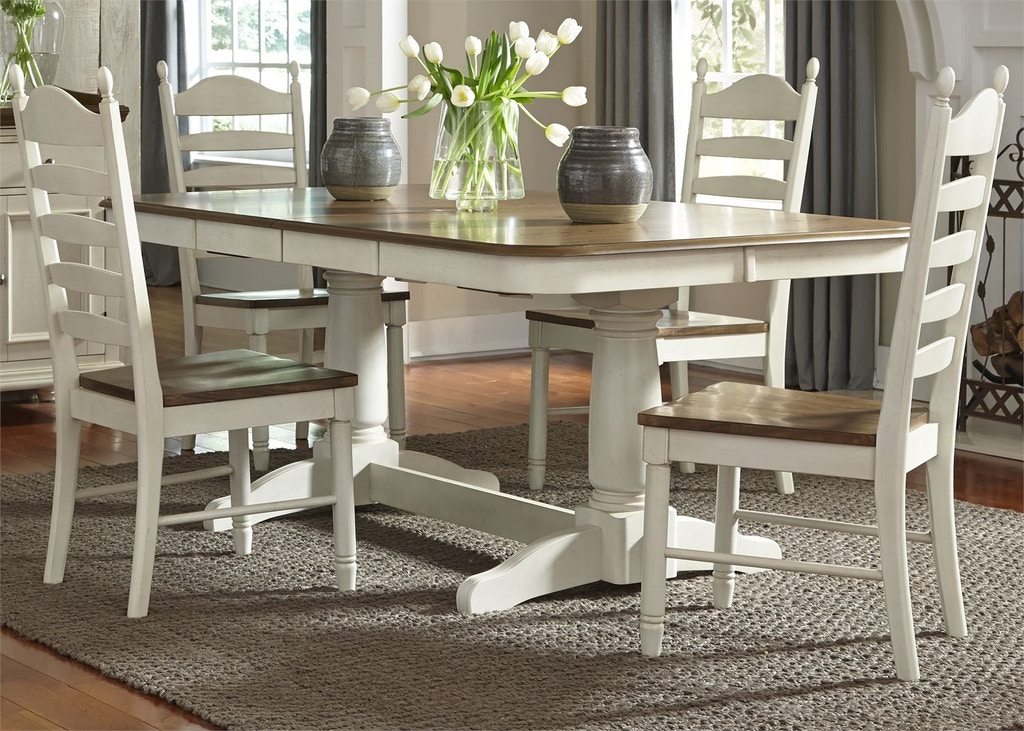 Liberty Furniture Dining Room 5 Piece Double Pedestal