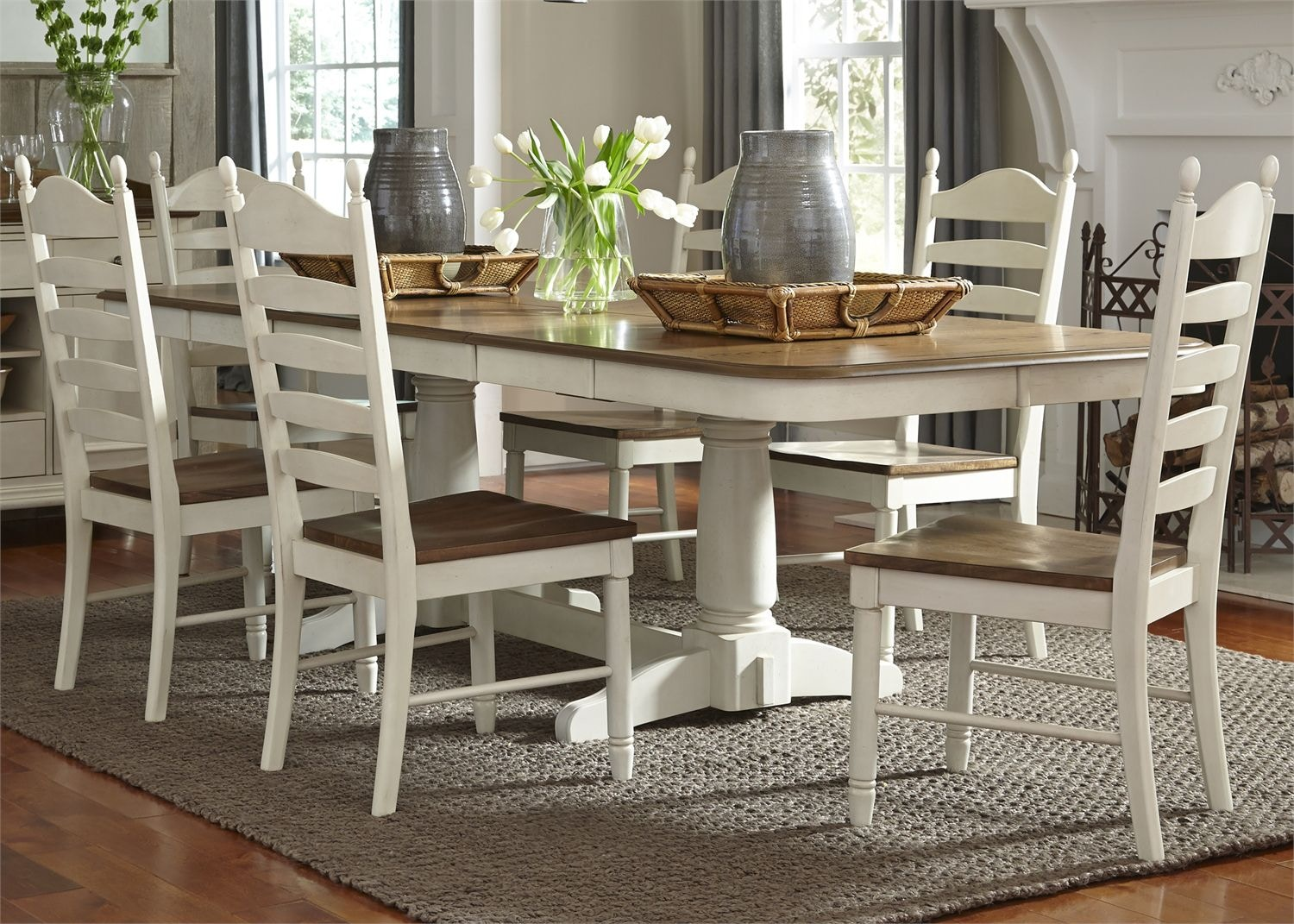 liberty furniture dining table. Liberty Furniture 7 Piece Double Pedestal Table Set 278-CD-72PS Dining