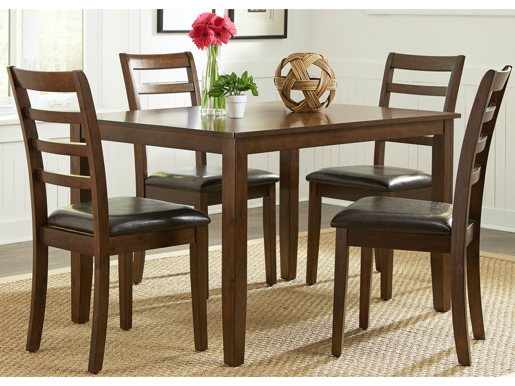 Liberty furniture dining room 5 piece rectangular leg for Dining room table 32 wide