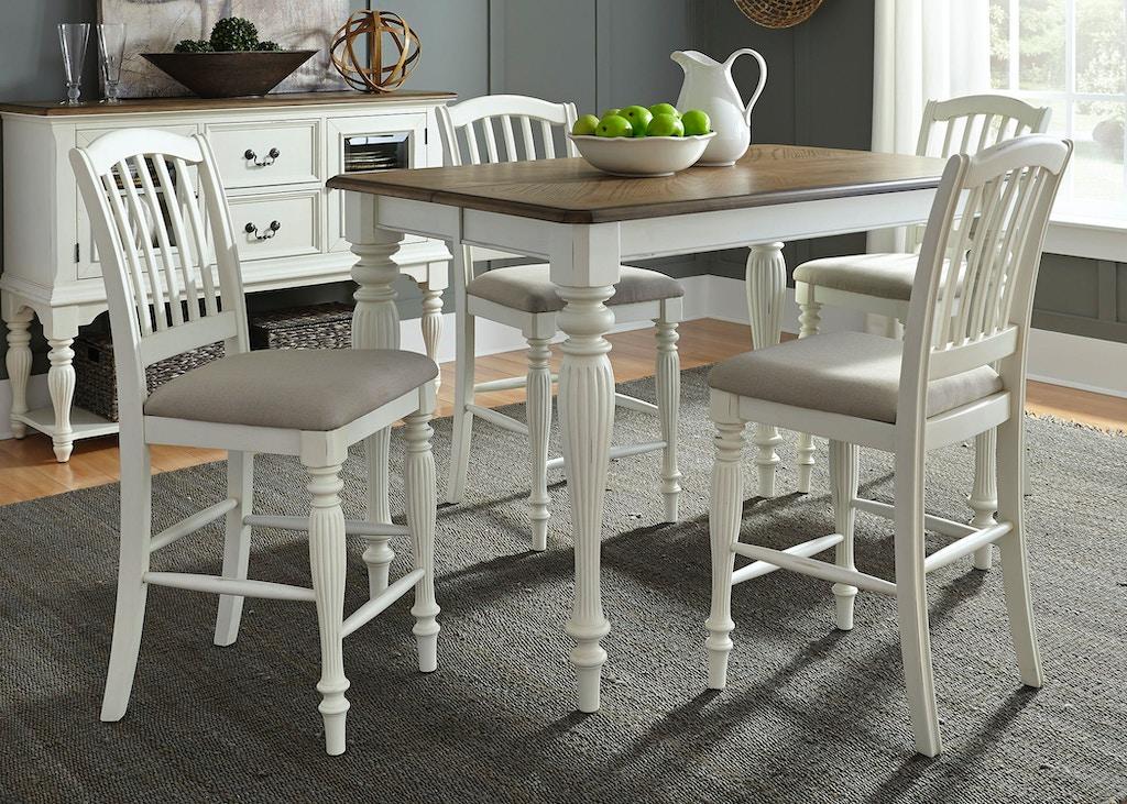 Liberty Furniture 5 Piece Gathering Table Set 334 CD 5GTS