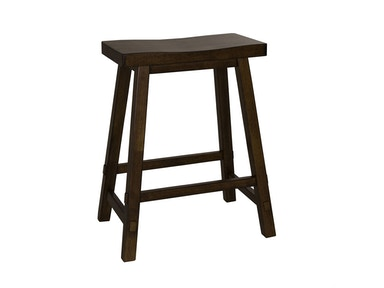 Liberty Furniture 24 Inch Sawhorse Barstool - Tobacco (RTA) 38-B1824