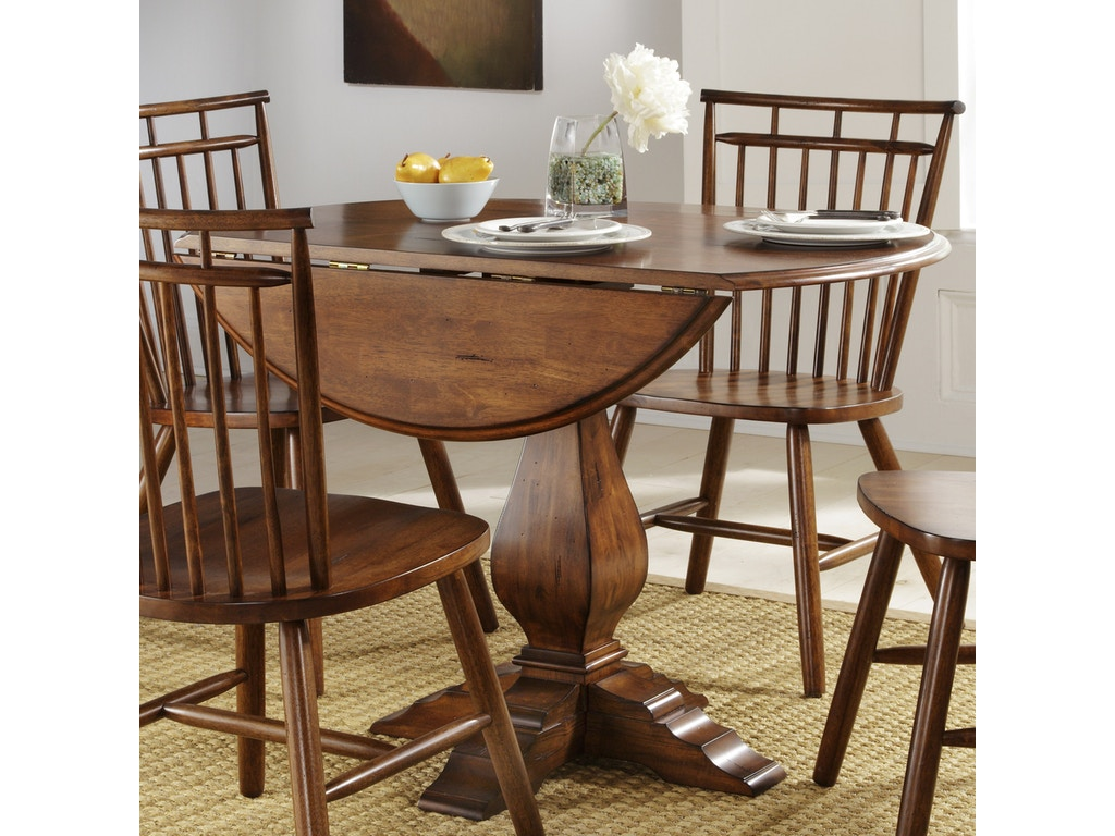 Liberty Furniture Dining Room Round Drop Leaf Table 38 Cd Ros Lynch Furniture Canandaigua Ny