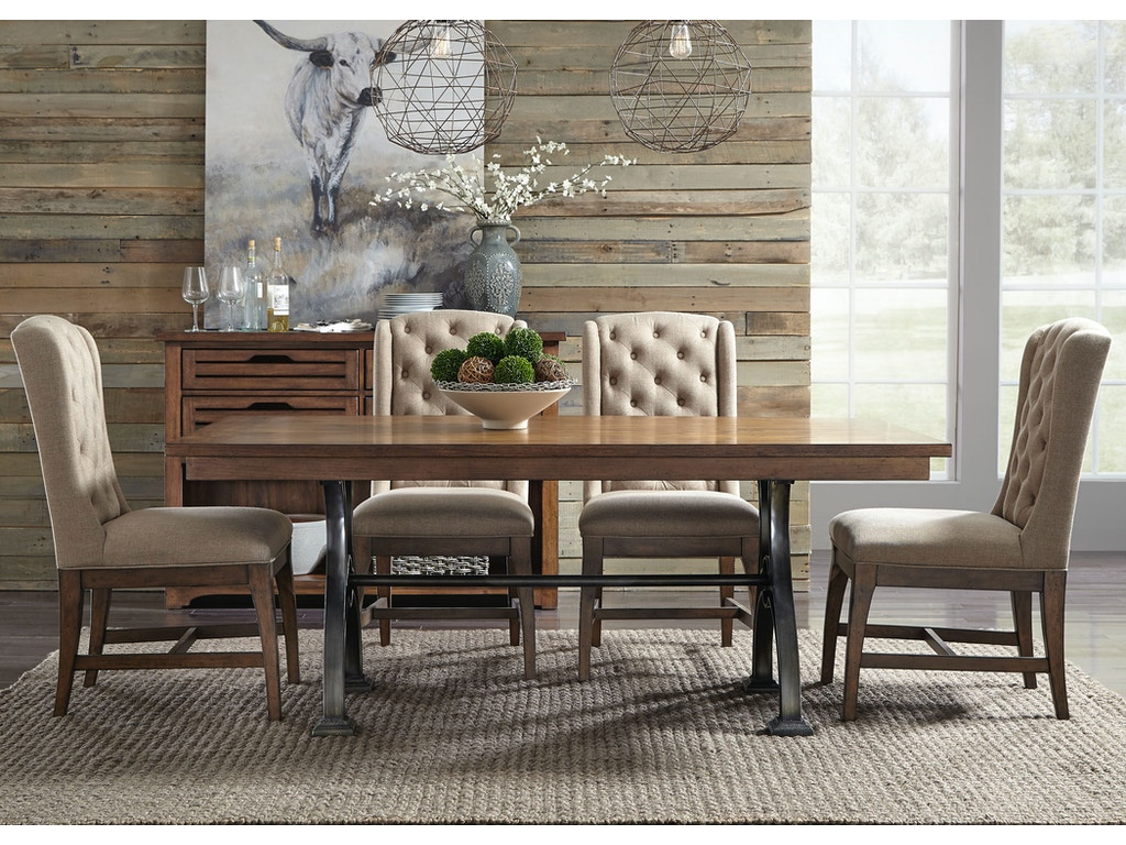 Liberty furniture dining room piece trestle table set