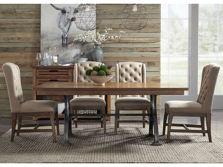 Liberty Furniture 5 Piece Trestle Table Set 411 DR 5TRS