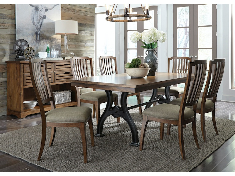 Liberty Furniture Dining Room Opt 7 Piece Trestle Table Set 411 DR O7TRS At Ramsey Company