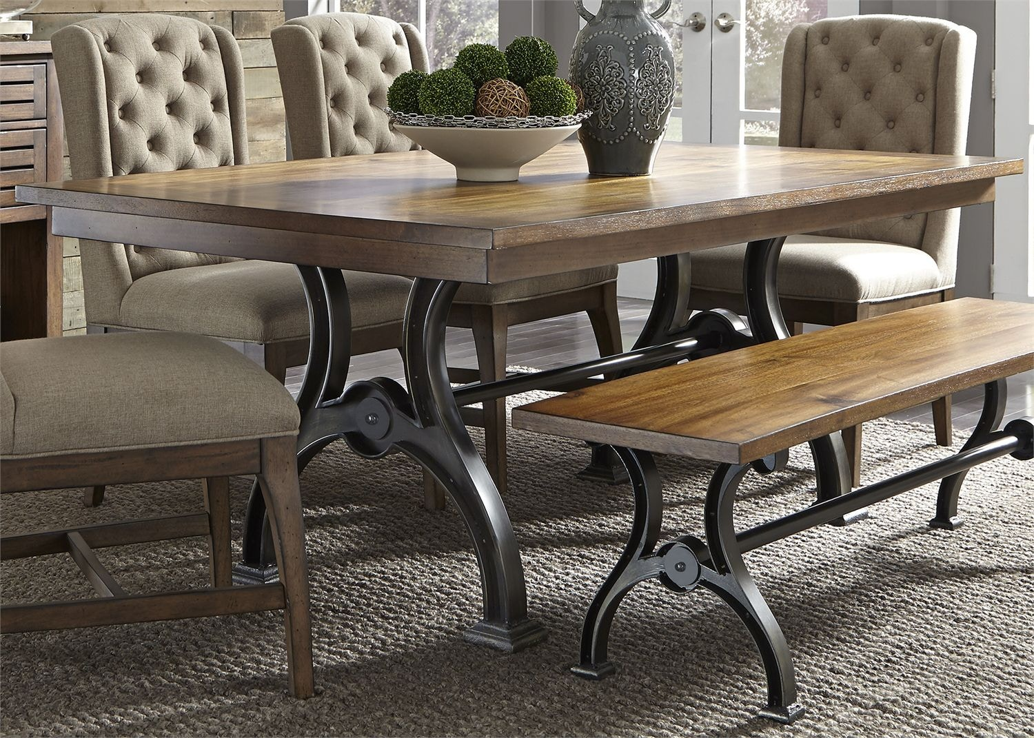 Liberty Furniture Dining Room Trestle Table 411 T4274