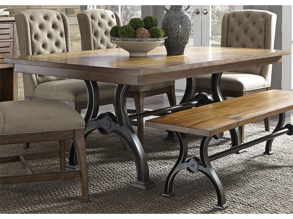 Liberty furniture dining room trestle table 411 t4274 for Furniture 411