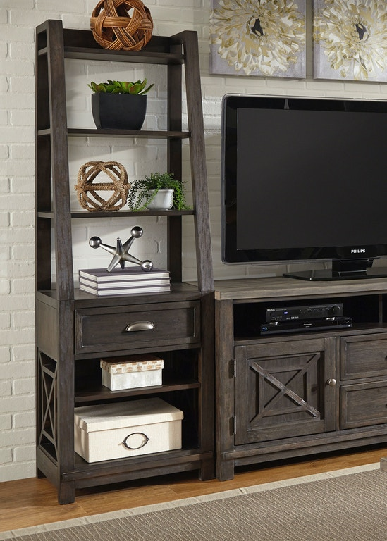 Liberty Furniture Home Entertainment Leaning Bookcase Pier