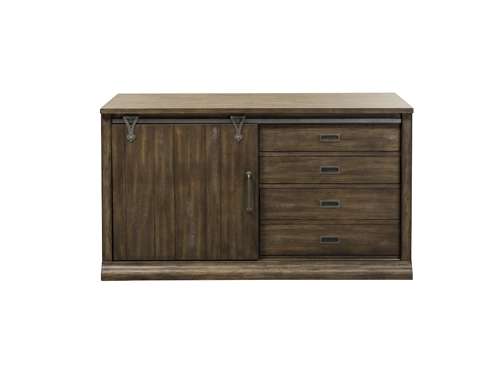 Liberty furniture home office jr executive credenza 466 for Furniture kingdom
