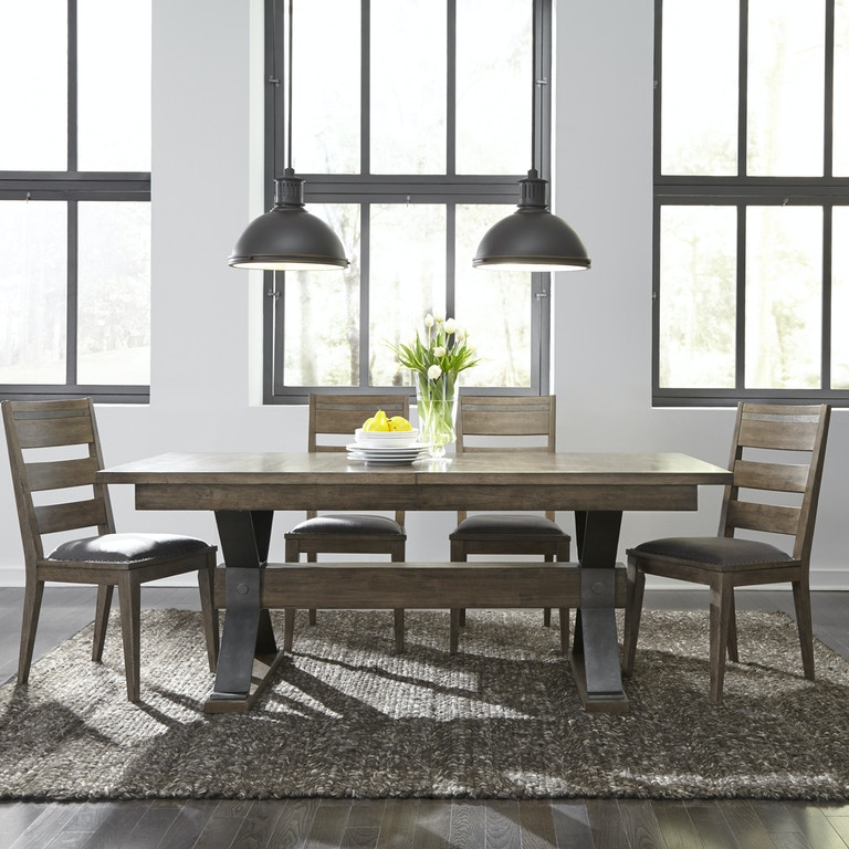 Awesome Liberty Furniture Dining Room Trestle Table Top 473 T4094 Download Free Architecture Designs Scobabritishbridgeorg