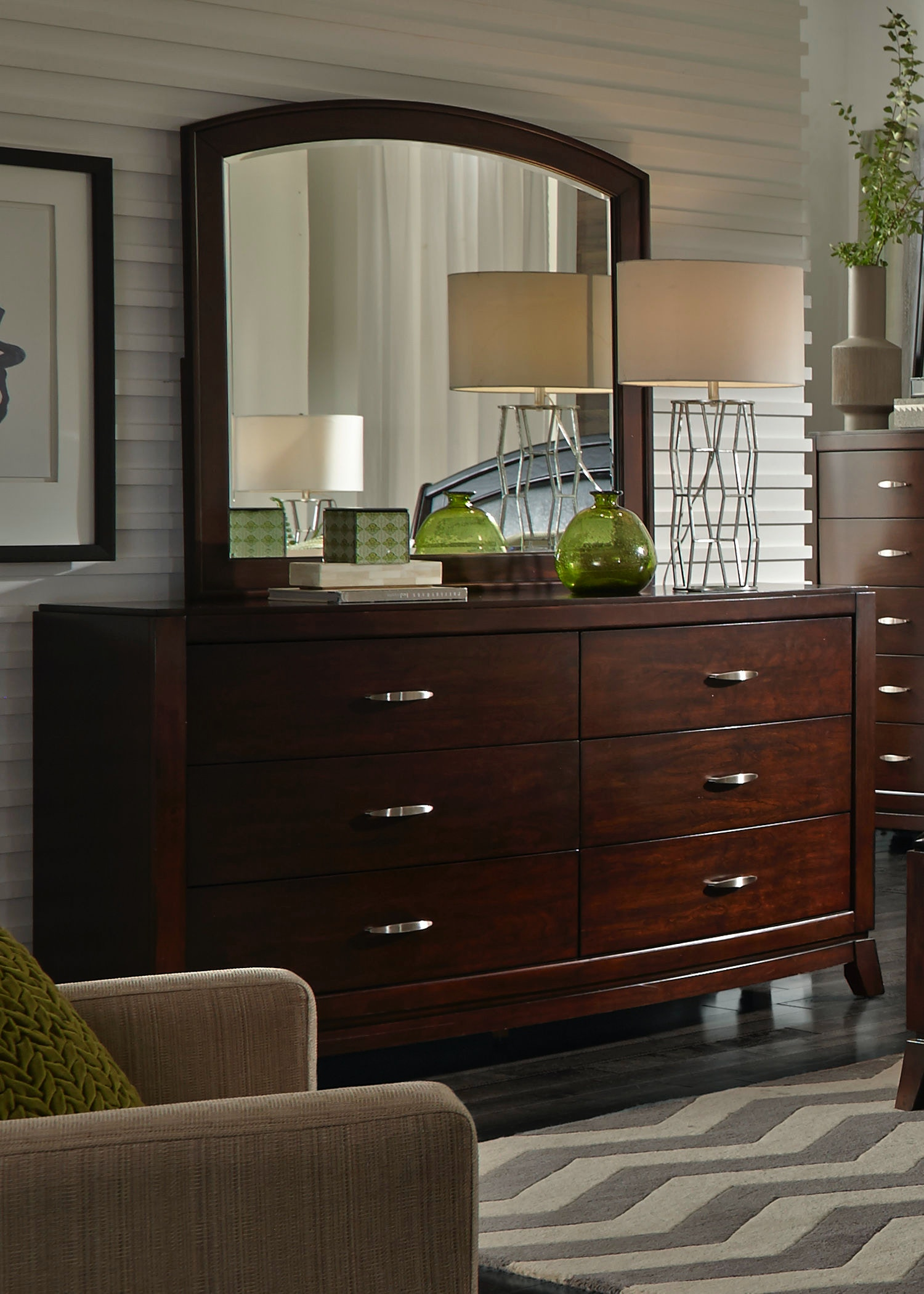 Liberty Furniture Bedroom Dresser And Mirror 505 BR DM At Lauters Fine  Furniture
