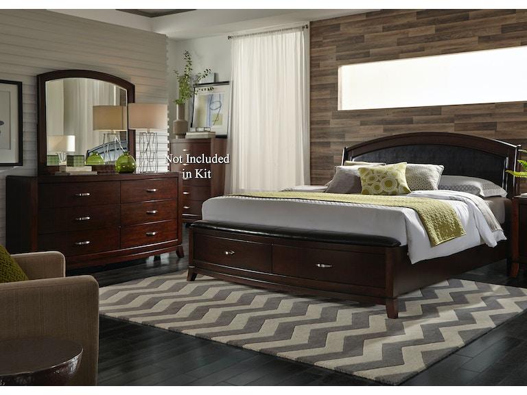liberty furniture bedroom queen storage bed dresser and mirror 505