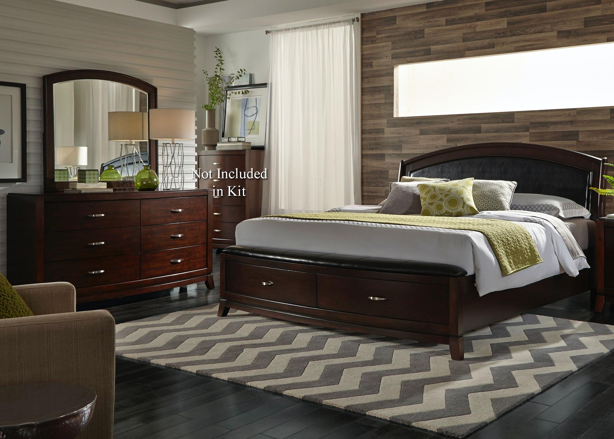 Liberty Furniture Queen Storage Bed Dresser and Mirror 505-BR-QSBDM & Liberty Furniture Bedroom Queen Storage Bed Dresser and Mirror 505 ...