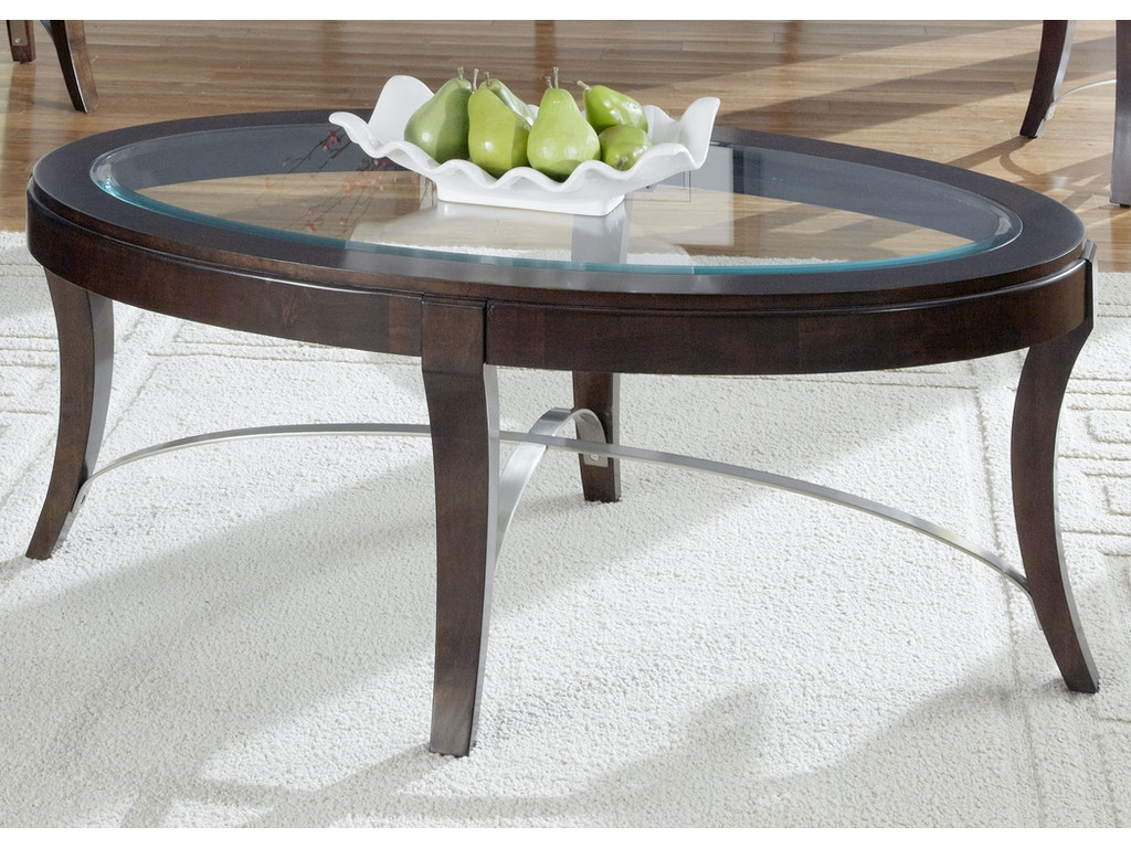Liberty Furniture Living Room Oval Cocktail Table 505