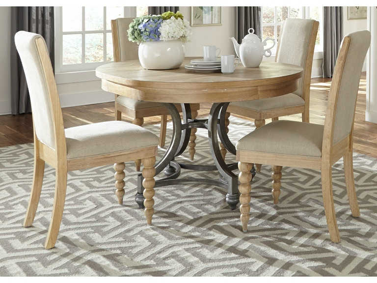 Liberty Furniture Opt 5 Piece Round Table Set 531 DR O5ROS