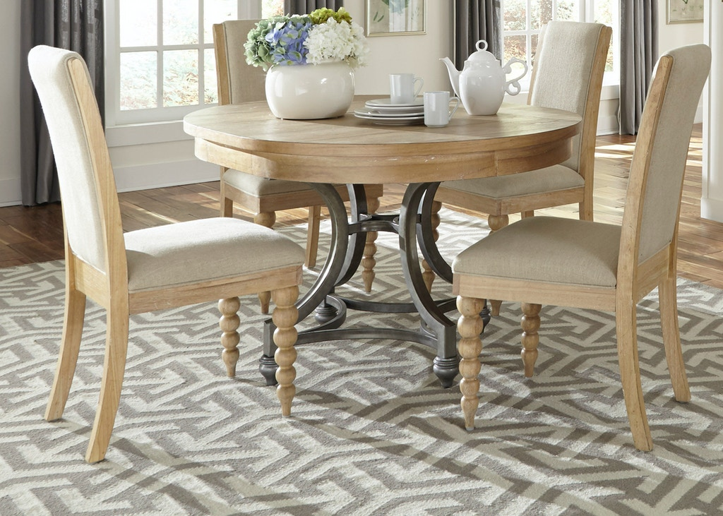 Liberty Furniture Dining Room Opt 5 Piece Round Table Set 531 Dr O5ros Quality Furniture