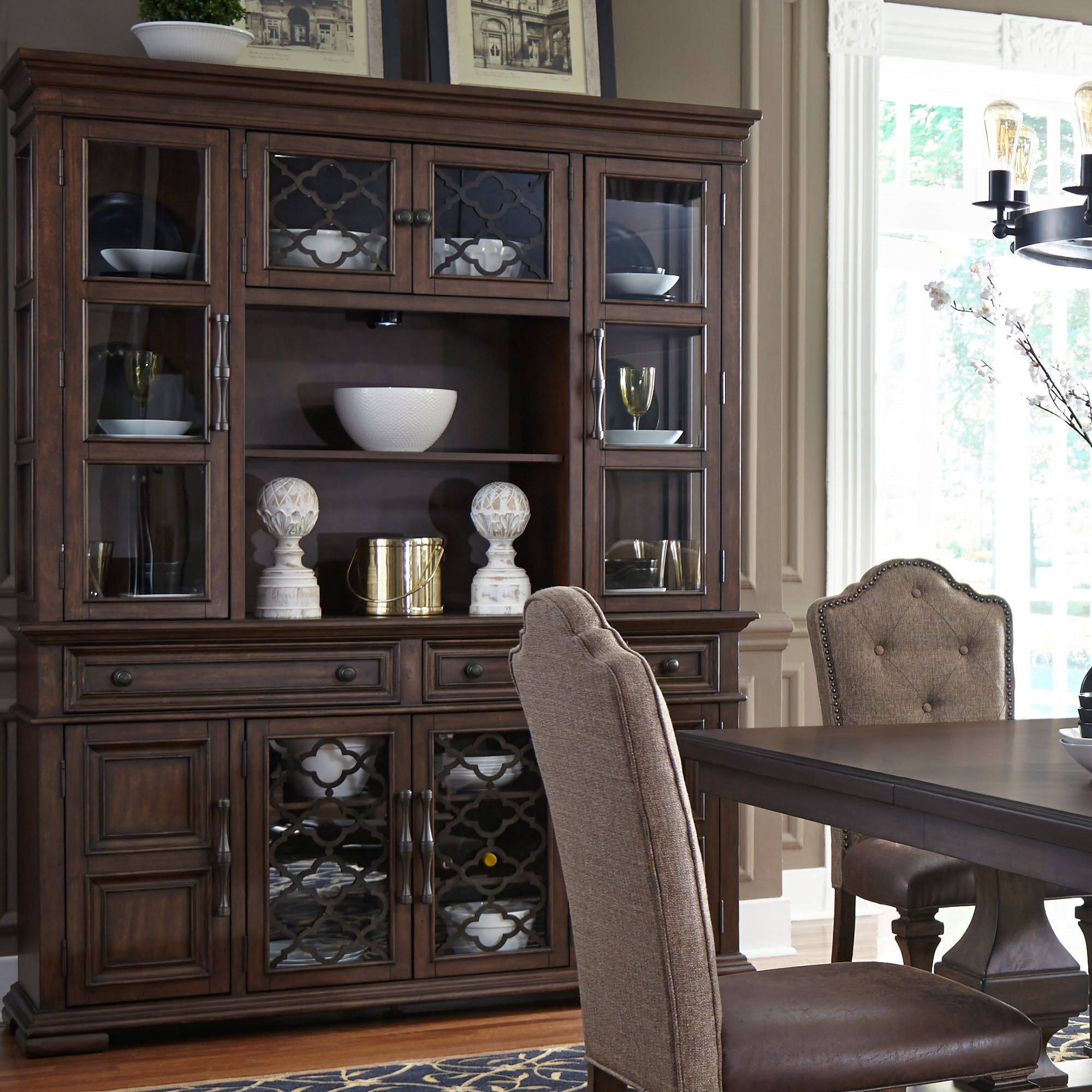 Liberty Furniture Dining Room Hutch And Buffet 535 Dr Hb Andrews Furniture Abilene Tx
