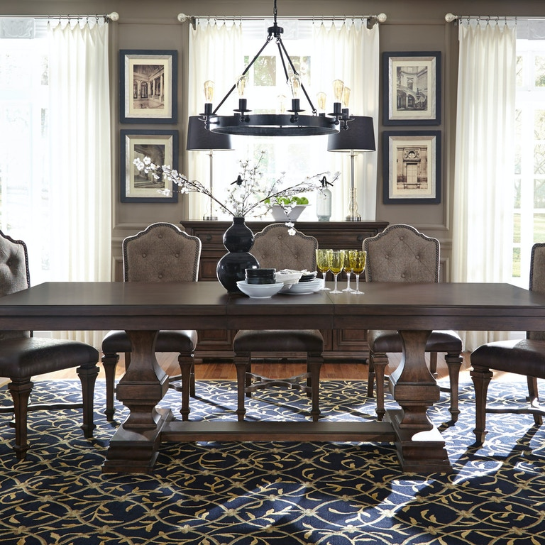 Fantastic Liberty Furniture Dining Room Double Pedestal Table Top 535 Download Free Architecture Designs Scobabritishbridgeorg