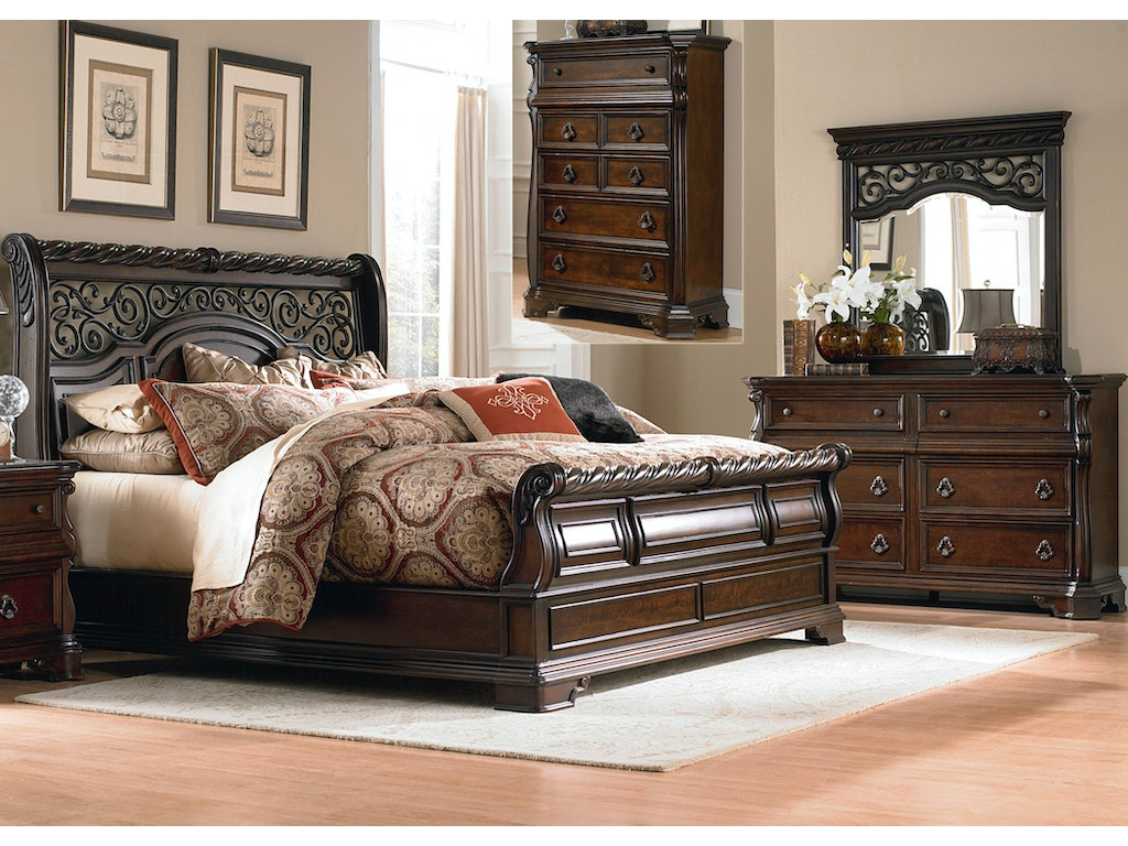Liberty Furniture Bedroom Queen Sleigh Bed Dresser And Mirror Chest Fulton Stores Brooklyn Ny