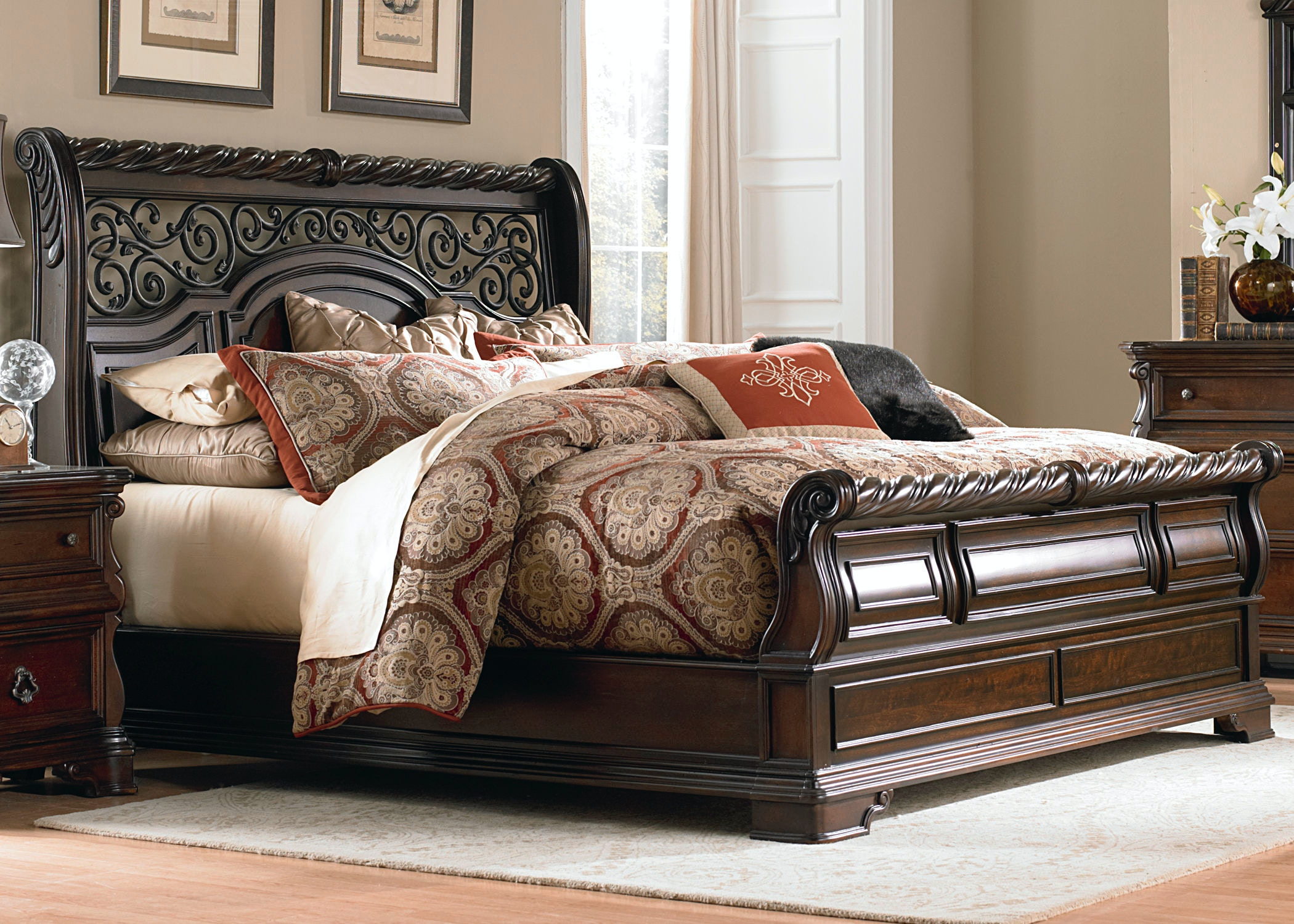 Liberty Furniture Bedroom King Sleigh Bed Frazier And Son