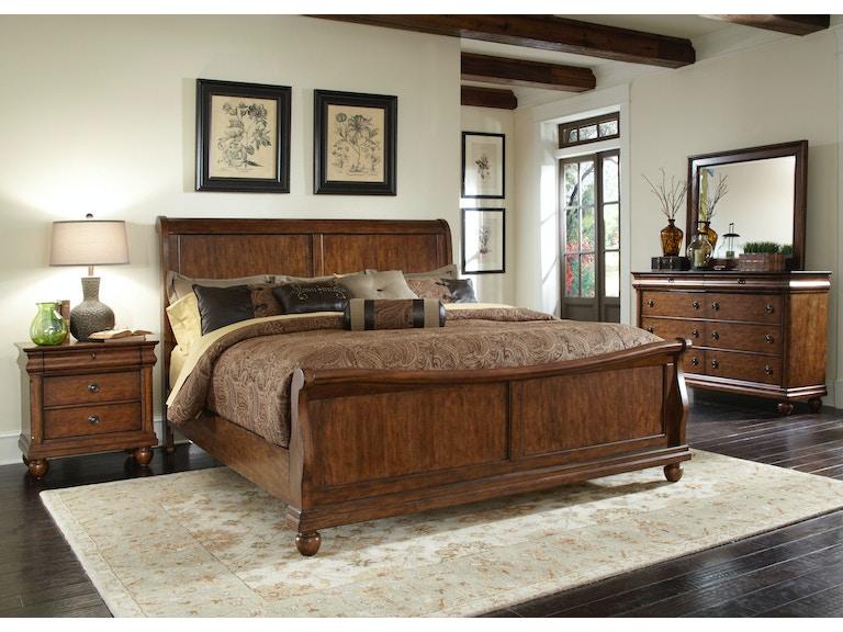 liberty furniture bedroom king sleigh bed 589 br ksl