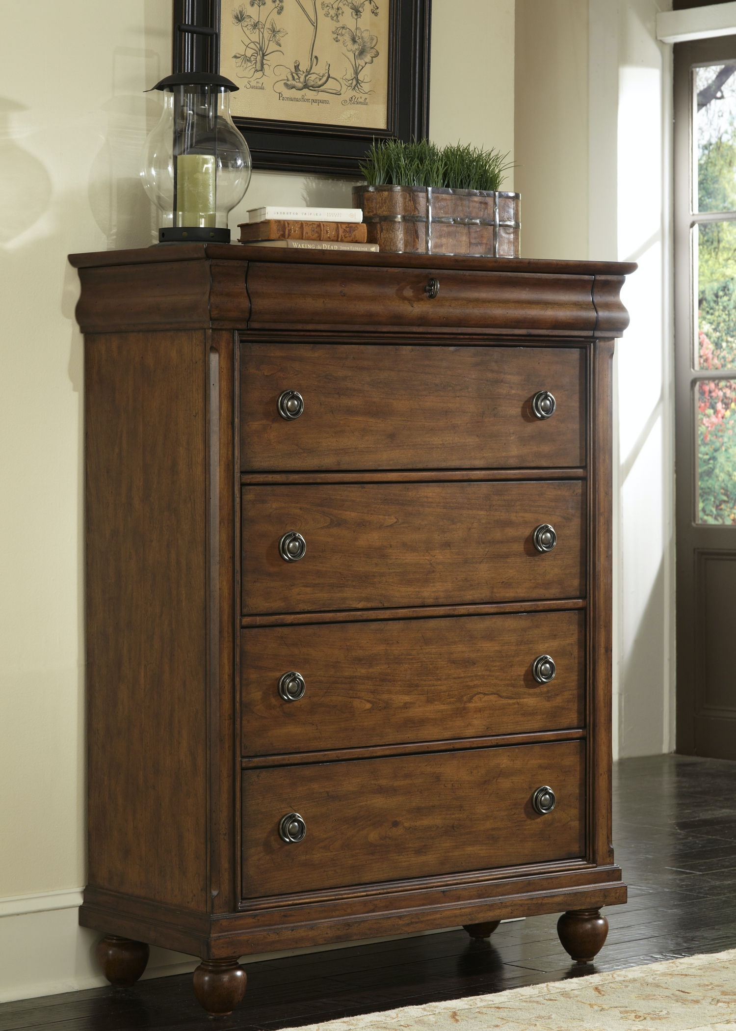 Liberty Furniture Bedroom 5 Drawer Chest 589 BR41 At Smith Village Home  Furniture