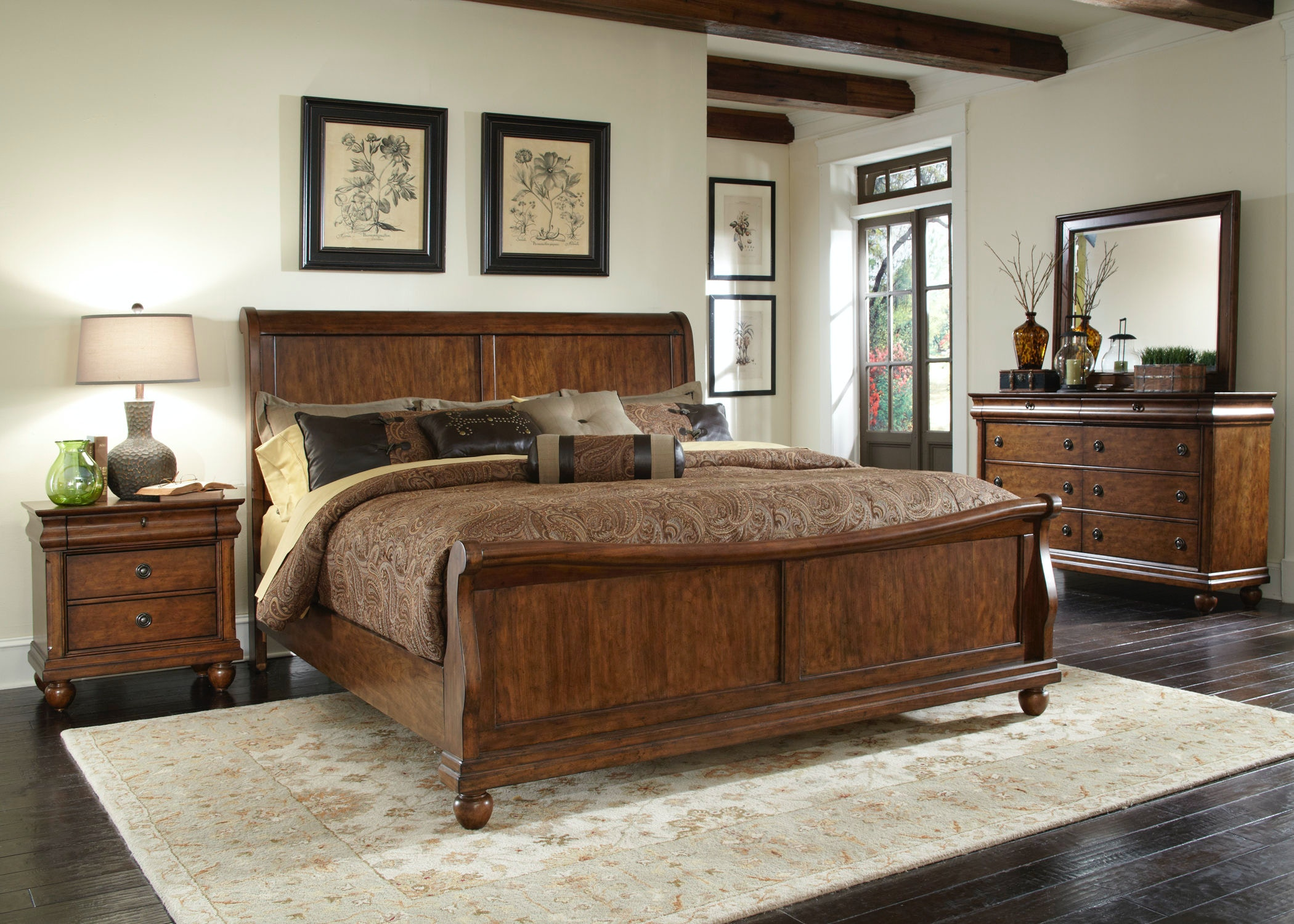 Liberty Furniture Bedroom King Sleigh Bed 589 Br Ksl Kettle River