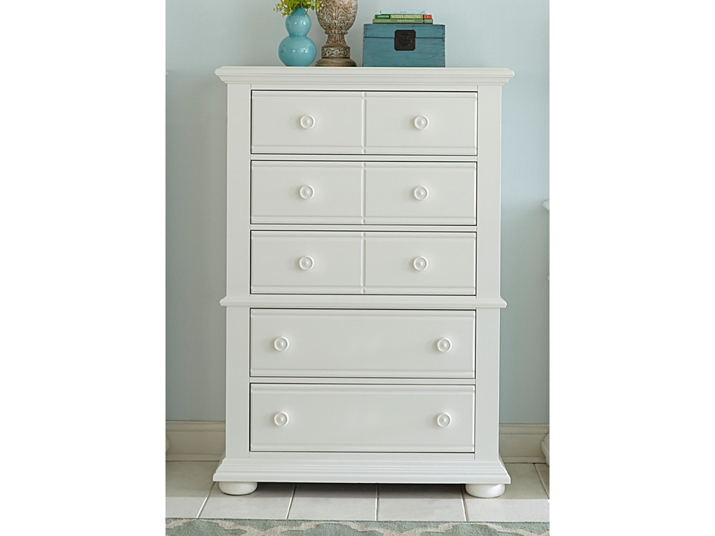 Liberty furniture bedroom 5 drawer chest 683781 for Bedroom 5 drawer chest