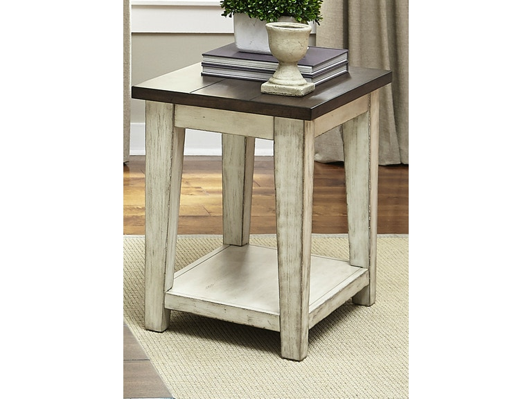 Liberty Furniture Living Room Chair Side Table 612-OT1021 ...