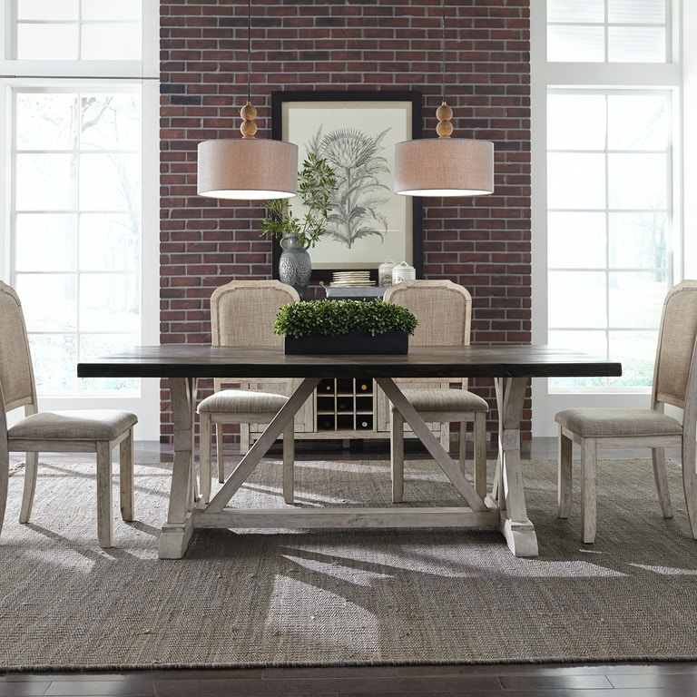 Liberty Furniture Dining Room Trestle Table 619 T3878 New Look