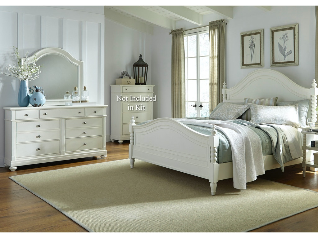 Liberty Furniture Bedroom Queen Poster Bed Dresser And Mirror 631 Br Qpsdm Seaside Furniture