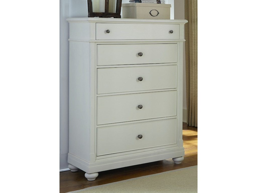 Liberty furniture bedroom 5 drawer chest 631 br41 howell for Bedroom 5 drawer chest