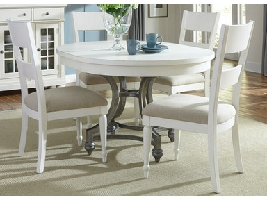 Liberty Furniture 5 Piece Round Table Set 631-DR-5ROS