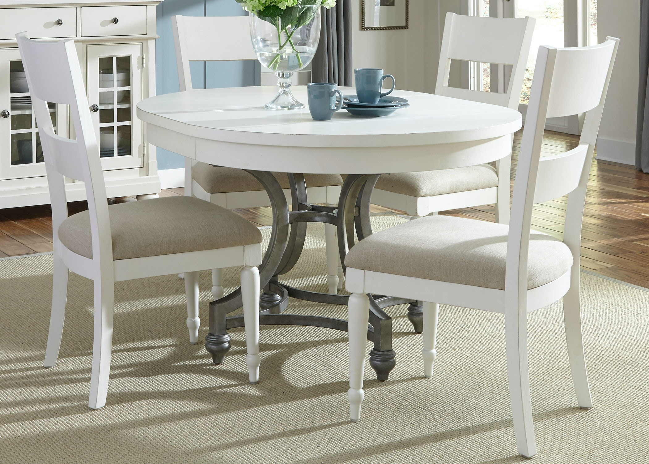 Liberty Furniture 5 Piece Round Table Set 631 DR 5ROS